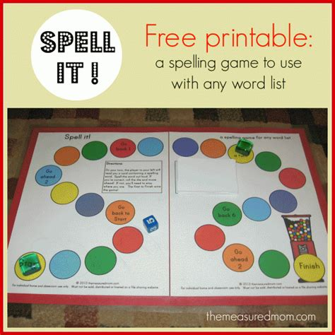 printable spelling bee games spell it a printable spelling game for any word list k