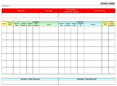excel template card excel template for warehouse inventory spreadsheets