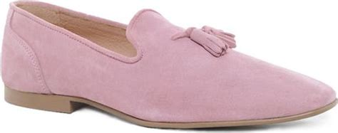 pink mens loafers asos tassel loafers in suede in pink for pinksuede