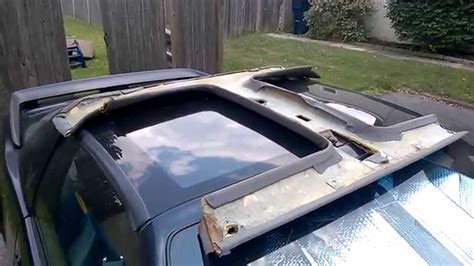 T Bar Top Quot How To Quot T Top Headliner Repair And Recover Part 1