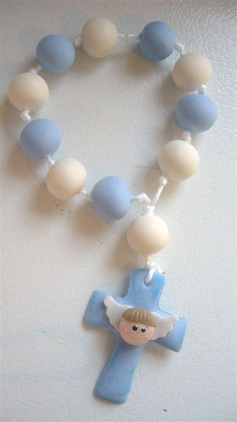 como hacer rosarios para recuerdos de bautizo o primera comuni 243 n rosarios de pasta para bautizo imagui