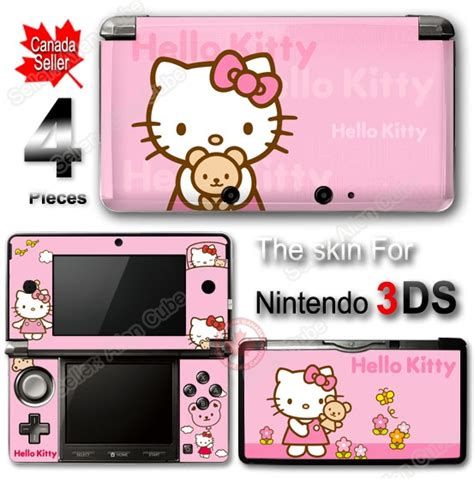 hello kitty nintendo ds hello kitty pink skin cover sticker 1 for nintendo 3ds ebay