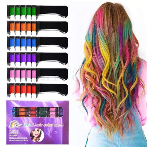 chalk hair color rosenice hair chalk comb shimmer temporary