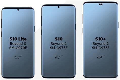samsung galaxy s10 screen sizes revealed soyacincau