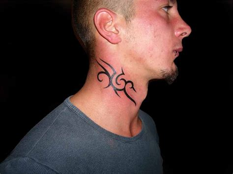 tribal neck tattoos for men 30 neck designs for