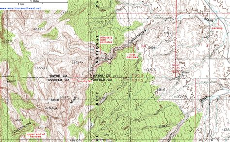 topographical map of utah topographic map of cottonwood wash capitol reef national