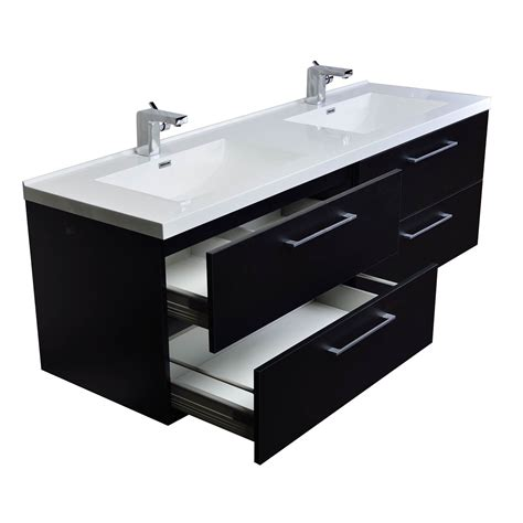 67 Bathroom Vanity Buy Camino 67 In Modern Vanity Set Wall Mount Matt Black Tn A1710 Bk Conceptbaths