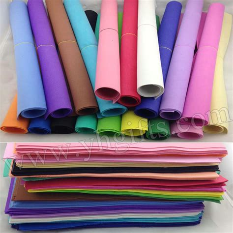Paper Foam Crafts - 51pcs lot 1mm foam sheets sponge paper 17 color selection