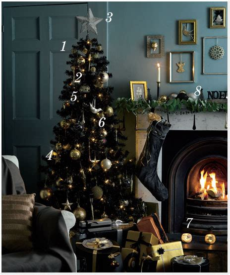 pictures of black and gold christmas tree black tree