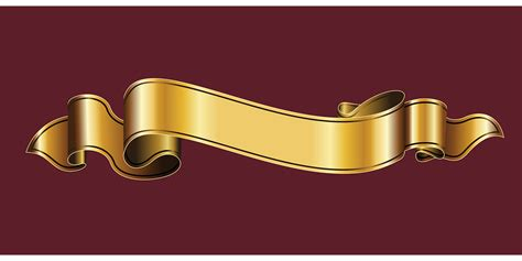 vector graphic gold ribbon ribbon heraldry