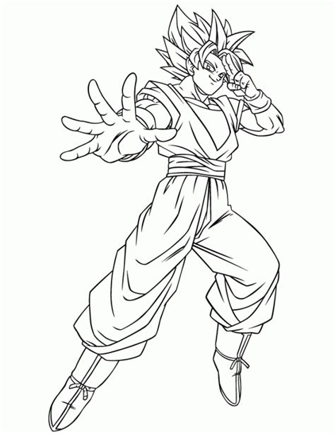 goku coloring pages super saiyan dragon ball z goku using instant transmission super saiyan