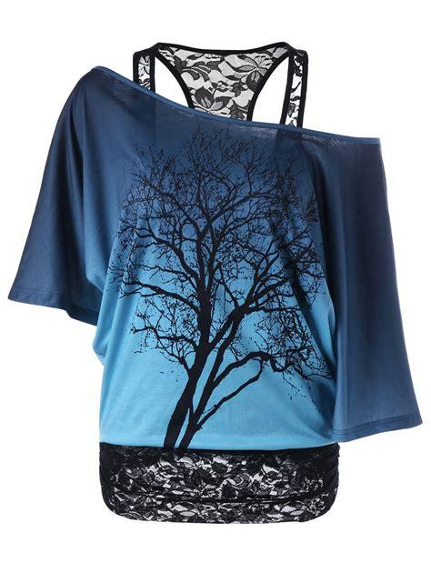 Lace Trim Collar Shirt tees t shirts blue and black lace trim skew collar
