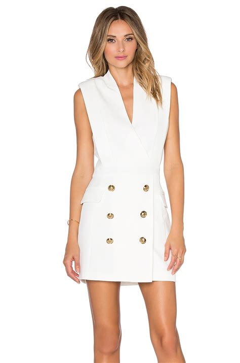 Dress For Button lyst endless button front dress in white