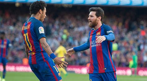 neymar leaves barcelona without its heir to lionel messi lionel messi s contract extension leaves neymar delighted