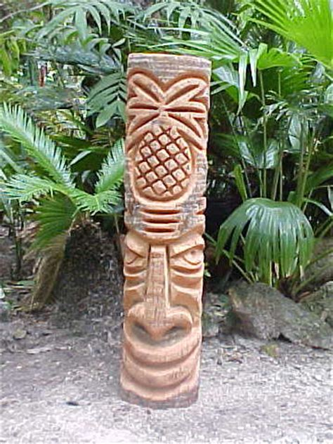 Palm Tiki Carved Florida Palm Tree Tiki Statues