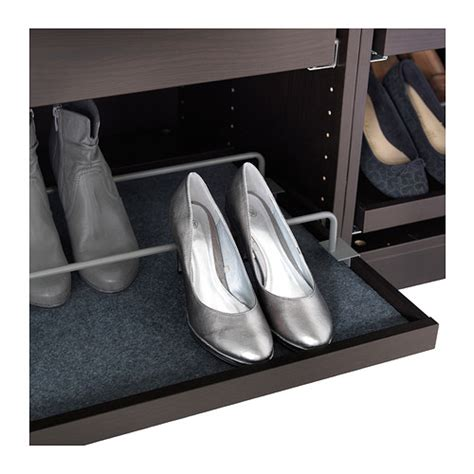 Pax Wardrobe Shoe Rack by Komplement Shoe Rail F Pull Out Tray Grey 100x58 Cm