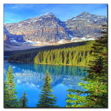 painting workshop scenery scenery painting on canvas lake and mountains