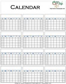 Blank Yearly Calendar Template by Blank Yearly Calendar
