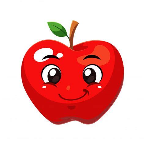 imagenes animadas manzana fruta de manzana descargar vectores premium