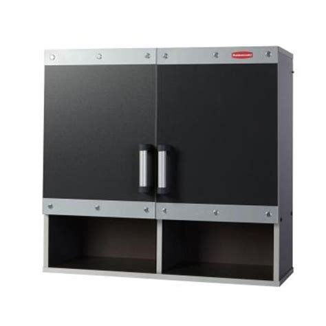 Laminate Garage Cabinets by Rubbermaid Fasttrack 30 In Laminate Garage Wall Cabinet