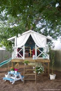 How To Make A Zip Line In Your Backyard Fort A Day A Gorgeous Treehouse And Play Tent Combination