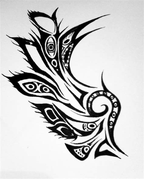tribal wings tattoo simson