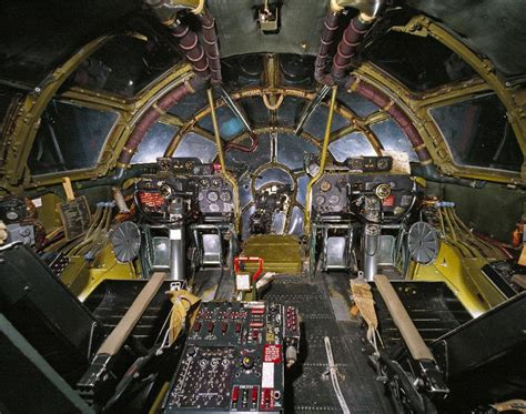Panoramic view inside cockpit of boeing b-29 superfortress ... B 29 Inside