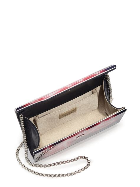 Jimmy Choo Slate Clutch by Lyst Jimmy Choo Neon Light Yes No Acrylic Clutch