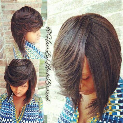 Pinterest Touch And Leave Braid Styles | full quickweave bob no leave out a touch of braziel
