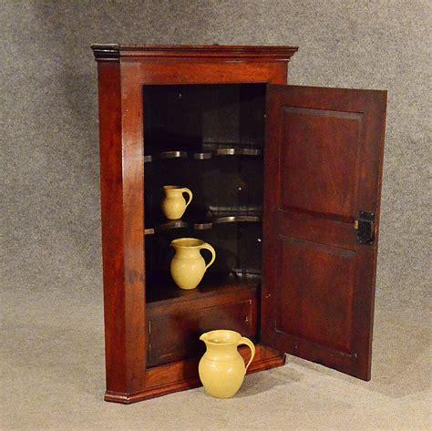 The Vintage Cupboard - antique corner cupboard mahogany georgian wall