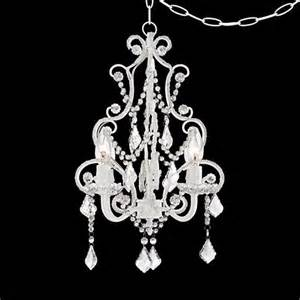 in swag chandelier white with accents in swag chandelier