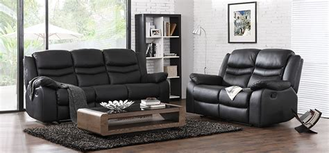 3 2 1 sofa set contour midnight black reclining 3 2 1 seater leather