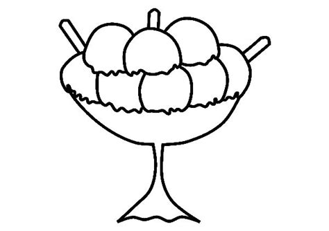 ice cream bowl coloring page free coloring pages of bowl of ice cream