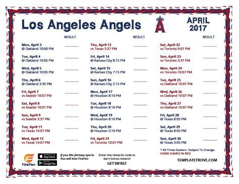 printable angels schedule printable 2017 los angeles angels schedule