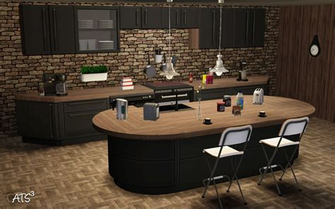 Kitchen Island Storage Table by Around The Sims 3 Custom Content Downloads Objects