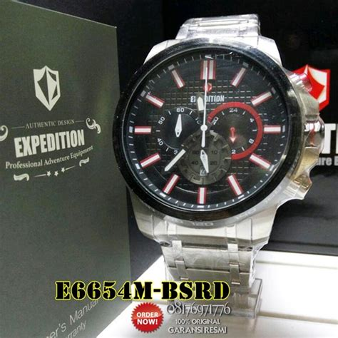 Jam Tangan Expedition Black Sporty jam tangan pria rantai sporty expedition e6654 original