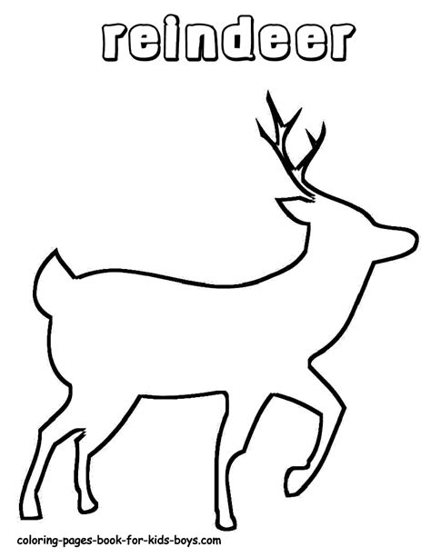 reindeer template printable free reindeer template coloring pages