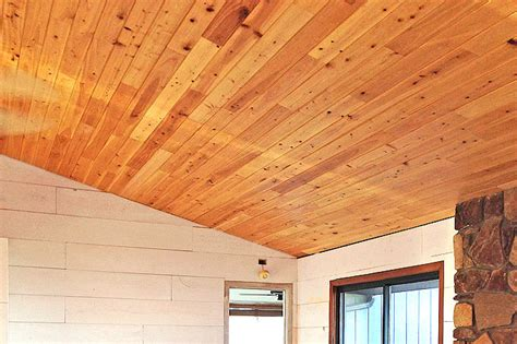 How To Cover Popcorn Ceiling With Wood by How To Cover A Popcorn Ceiling With Cypress Wood She