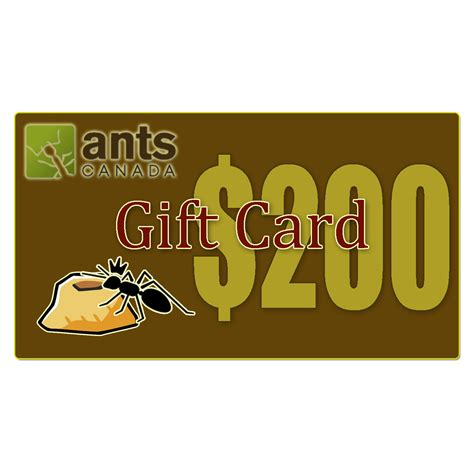 What Are E Gift Cards - e gift card 200 00 antscanada