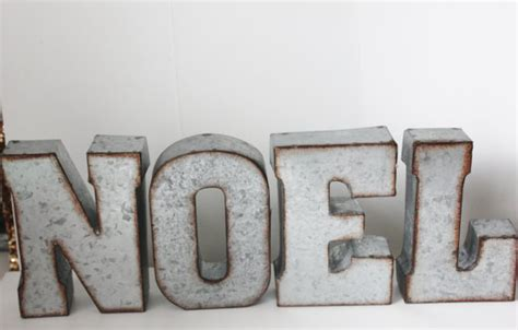 Decorative Letters For Mantle by Metal Noel Letters Sign Rustic Decor Mantle