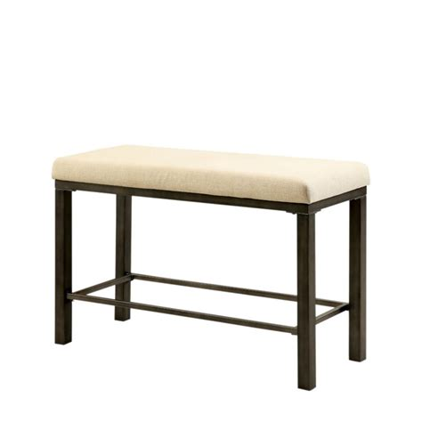 dining bench height furniture of america metrix counter height dining bench in
