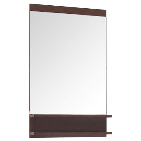 Wooden Bathroom Mirror With Shelf Milo Iron Wood Bathroom Mirror With 2 Shelves Zuri Furniture