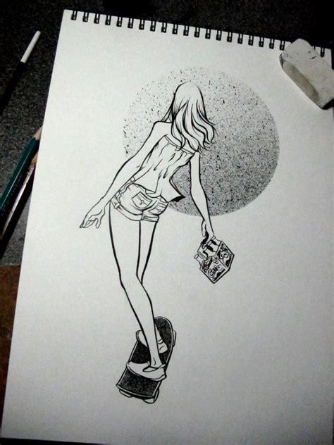 imagenes de skate para dibujar a lapiz 30 dollar commission skater girl by quetzalrevolver on