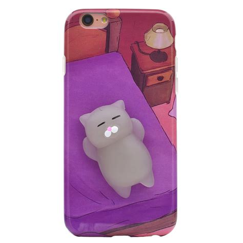 squishy 3d soft silicone cat tpu phone cover iphone 5 6s 7 8 plus ebay