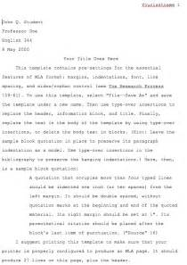 mla research paper pages template