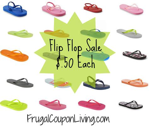 flip flop sale kmart bogo flip flops sale 0 50 each free ship to store