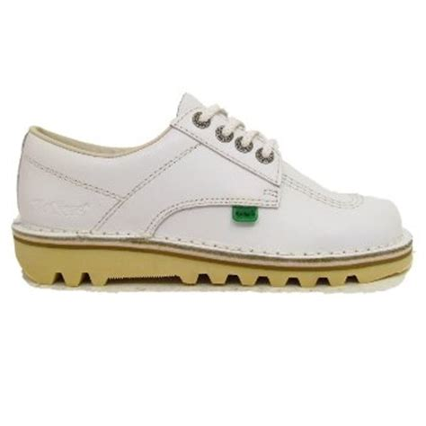white kickers kick lo leather shoes co uk