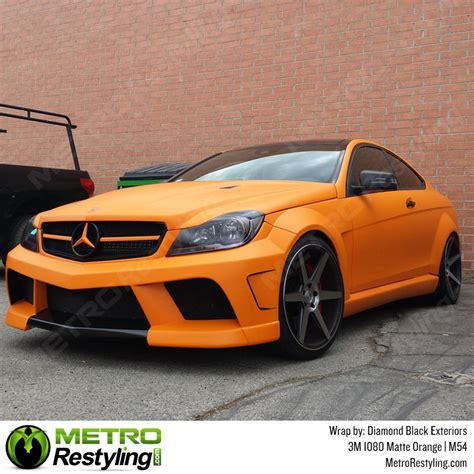 matte wrapped cars 3m scotchprint series 1080 m54 matte orange vinyl wrap