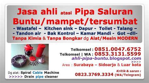 Alat Pembersih Saluran Pipa Sink Wastafel Ledeng Tersumbat jasa kuras bersih tandon air surabaya sidoarjo gresik
