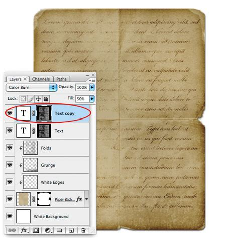 tutorial photoshop old paper creating old paper with custom brushes graphic design